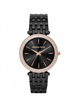 Michael Kors Authentic Watch MK3407 Women's Darci Black Rose Gold Tone