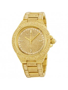 MICHAEL KORS Camille Swarovski Crystal Encrusted Gold Ion-plated Ladies Stone Watch