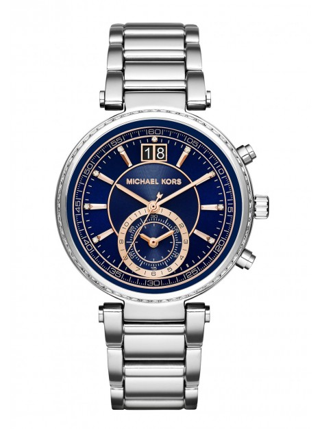 Michael Kors Women's MK6224 Sawyer Analog Display Royal Blue Dial Watch