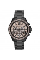 Michael Kors Women's MK5879 Wren Analog Display Chronograph Swarovski Black Watch
