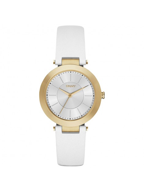 DKNY Women's NY2295 STANHOPE Analog Display Gold White Leather Watch