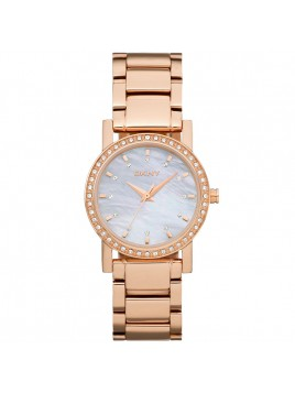 DKNY Women's Mother Of Pearl Dial Quartz Watch NY8121 with Rose Gold Bracelet