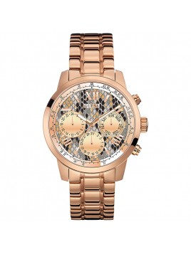 GUESS Women's Chronograph Rose Gold-Tone Stainless Steel Bracelet Watch 42mm U0330L16