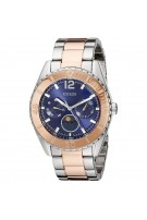 GUESS Unisex U0565L3 Two-Tone Stainless Steel Royal Blue Dial Watch