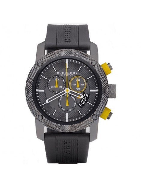 Burberry Chronograph Endurance Grey Rubber Strap Sport Men's Watch Model-BU7713