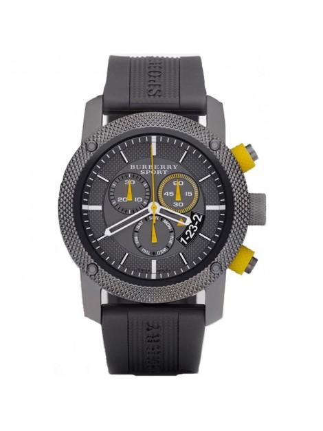 Burberry Chronograph Endurance Grey Rubber Strap Sport Men's Watch Model-BU7713