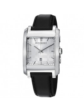 Burberry Classic Men's Black Leather Strap Watch 33mm Model-BU1570