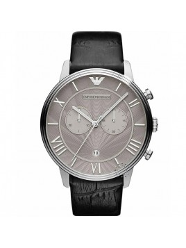 Emporio Armani Men's Quartz Watch Black Leather Strap Model-AR1615