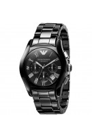 Emporio Armani Men's Black Ceramic Chronograph Black Dial Chronograph Watch AR1400