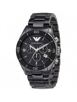 Emporio Armani Chronograph Black Dial Men's Ceramica watch Model-AR1421