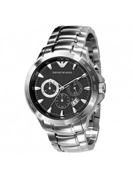 Emporio Armani Mens Chronograph Stainless Steel Watch AR0636