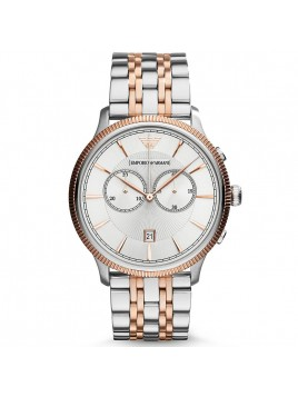 Emporio Armani Men's Classic Analog Display Rose Gold Silver Watch AR1826