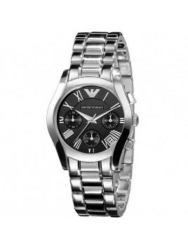 Emporio Armani Chronograph Ladies Black Dial Watch AR0674
