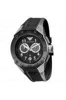 Emporio Armani Chronograph Black Dial Rubber Men's Watch - AR0665