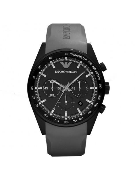 Emporio Armani Men's Sportivo Chronograph Grey Rubber Quartz Watch with Black Dial AR5978