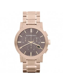 Burberry Chronograph Rose Gold Plated Steel Mens Watch BU9353