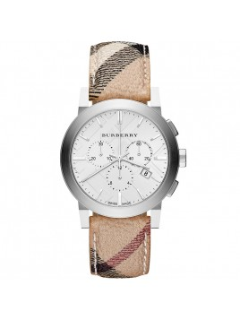Burberry Watch, Men's Swiss Chronograph Haymarket Check Fabric Strap 42mm BU9360