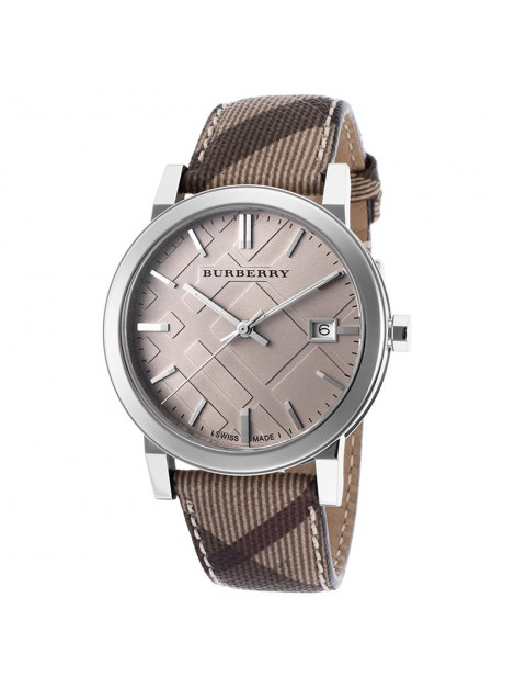 Burberry The City Smoked Trench Womens Brown Leather Timepiece Watch BU9029