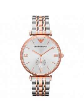 Emporio Armani AR1677 Classic Two-Toned Unisex Rose Gold Steel Watch