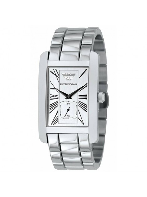 Emporio Armani Gents Stainless Steel Bracelet Watch with Silver Dial AR0145