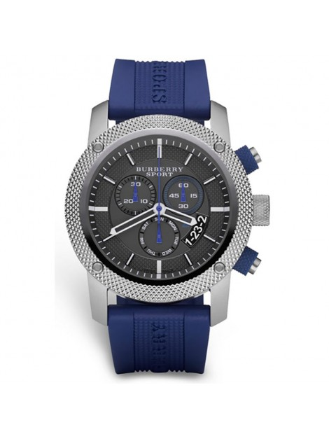 blue burberry watch
