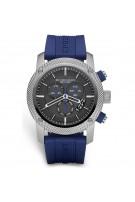 BURBERRY Men's Blue Rubber Band Chronograph Watch Model-BU7711