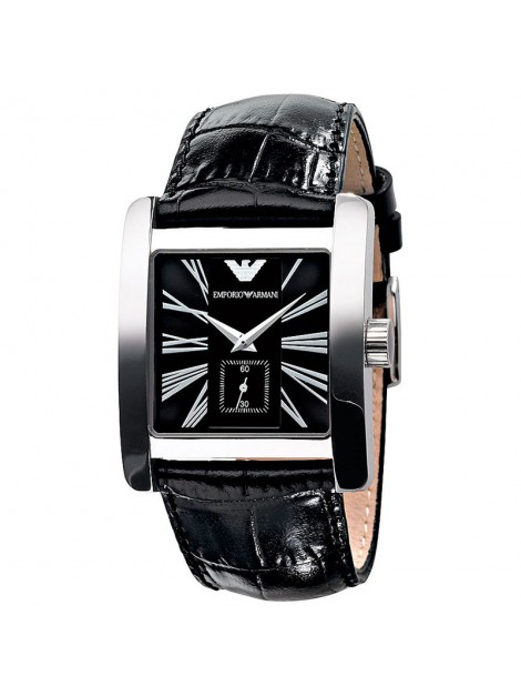 Emporio Armani Men's Classic Luxury Black Leather Band Watch AR018
