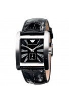 Emporio Armani Men's Classic Luxury Black Leather Band Watch AR0180