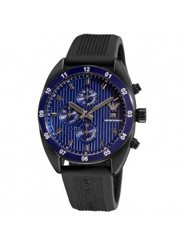 Emporio Armani Men's Sport Rubber Band Chronograph Blue Dial Watch AR5930
