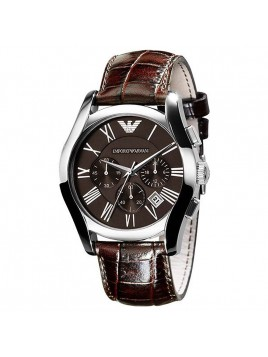 Emporio Armani Men's Chronograph Dial Leather Brown Dial Watch AR0671