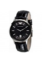 Emporio Armani Men's Classic Analog Display Analog Date Black Watch AR2411