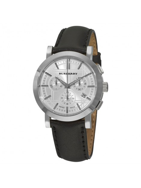 BURBERRY HERITAGE MENS CHRONOGRAPH BLACK LEATHER WATCH BU1361