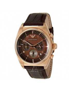 Emporio Armani Men's Rose Gold Chronograph Quartz Watch AR0371