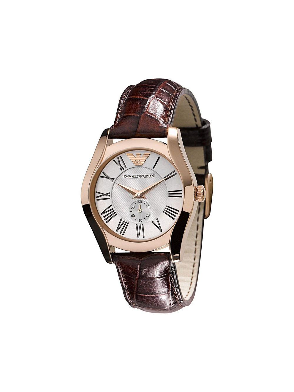 watches watch silver armani ladies gold rose women dial s emporio leather brown