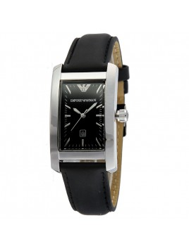 RARE Emporio Armani Black Leather strap ladies dress watch AR0122