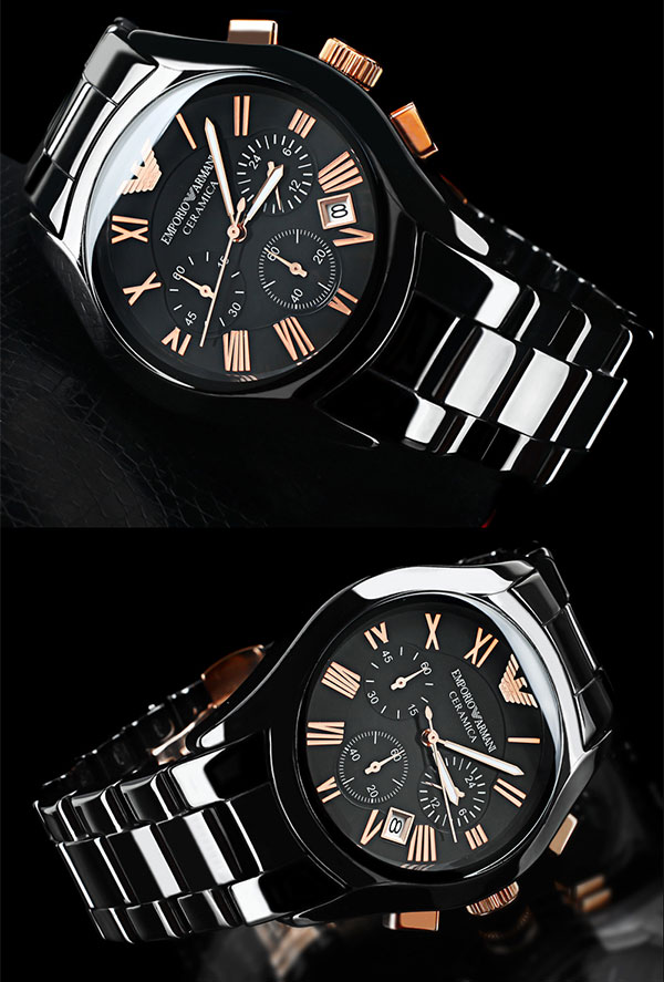 100% new authentic emporio armani mens black rose gold ceramic 100% authentic emporio armani men s ar1410 ceramic black chronograph dial watch brand emporio armani model number ar1410 part number ar1410